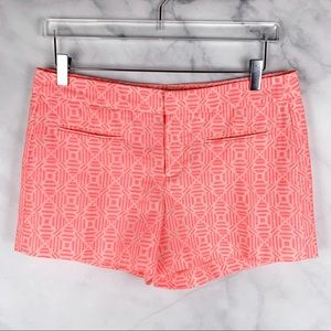 NEW The Gap Neon Coral Tribal Woven Shorts Boho 8